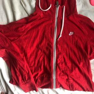 Red Nike full zip